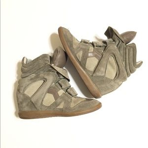 Isabel Marant Beckett hightop hidden heel sneakers